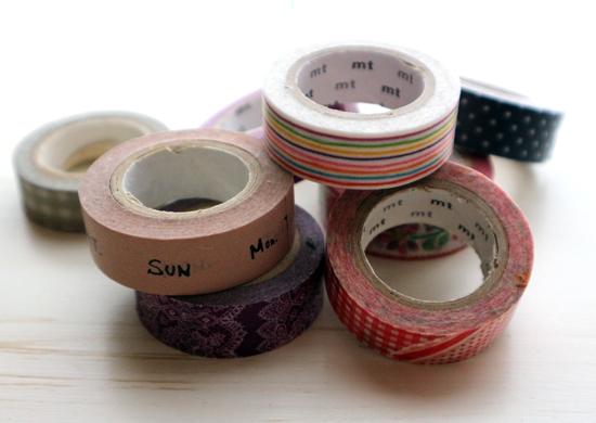 複数もマスキングテープの写真