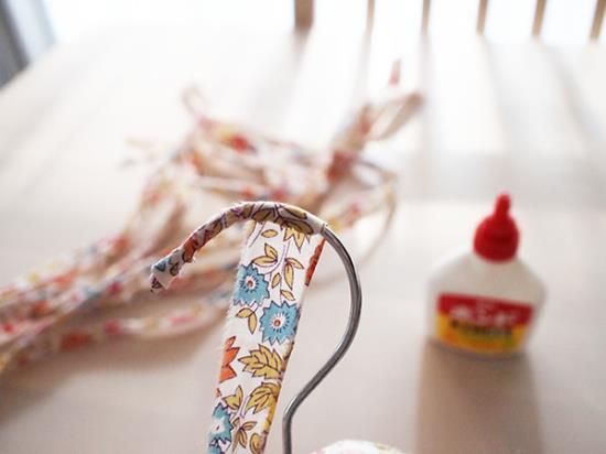 布巻きハンガーの作り方の手順
