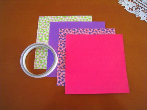 簡単 折り紙 両面折り紙 折り方 : josei-bigaku.jp