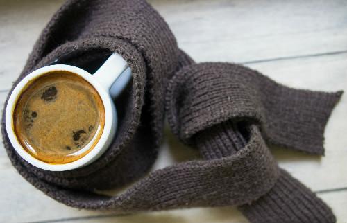 マフラーとコーヒー