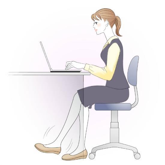 机の下でできる足の運動1654