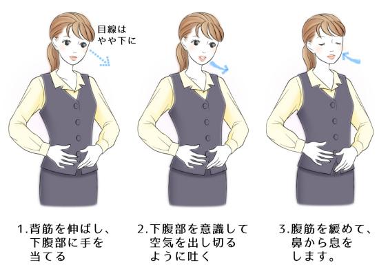 腹式呼吸と下腹部の運動1654