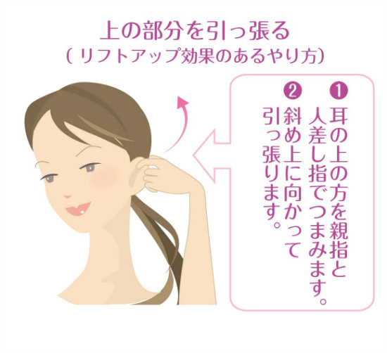 リフトアップ効果のある耳ヨガ