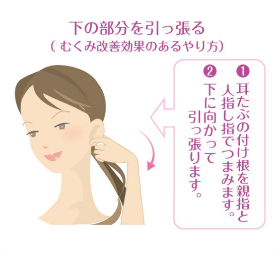 むくみ改善効果のある耳ヨガ