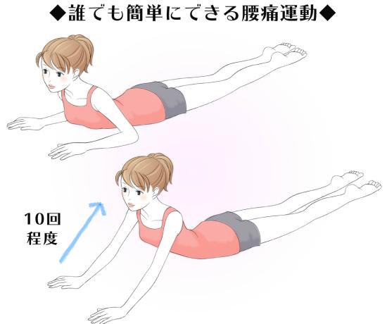 誰でも簡単にできる腰痛運動8705-1