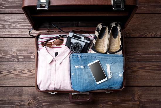 旅行準備中の写真