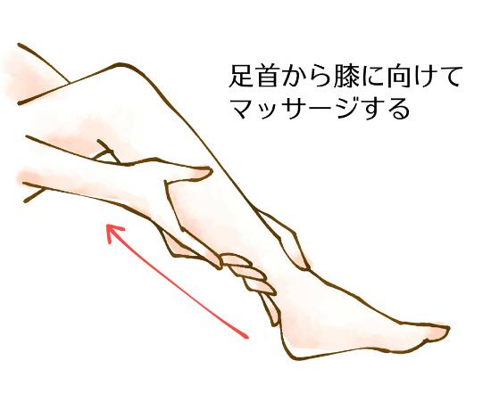 ふくらはぎのマッサージ足の裏全体を指圧する1125-1