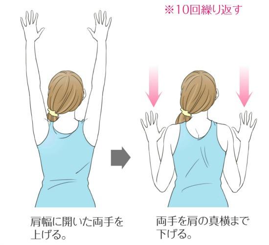 肩甲骨の上げ下げ運動