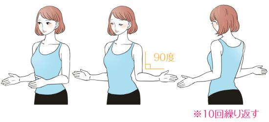 肩から背中のストレッチによるトレーニング