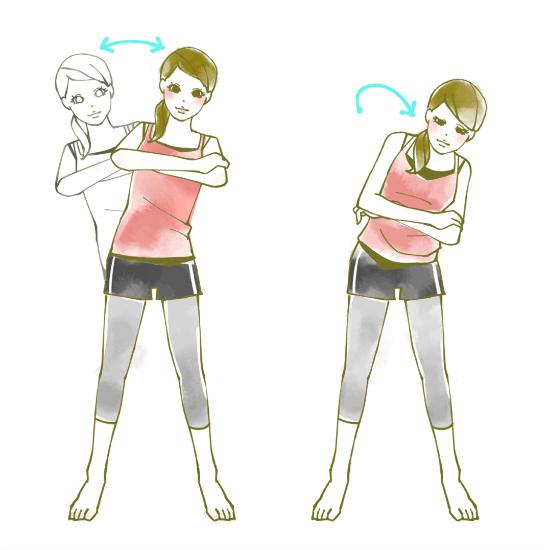 腰を支点にしてゆっくりと捻る運動0918