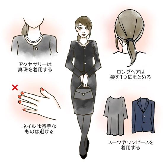お葬式に参列する時の服装