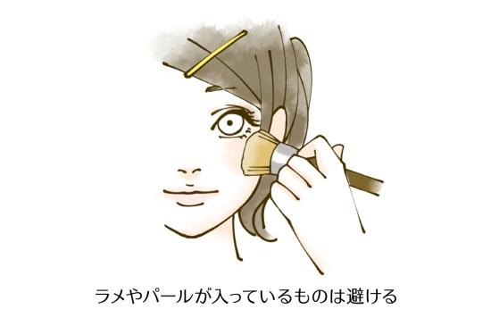 チークやハイライト、シャドウは顔にメリハリを付けるので使わない