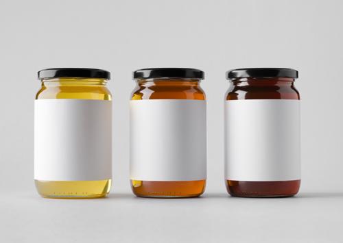 3種類の蜂蜜が並んだ写真