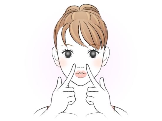上唇だけ鼻に近づけるストレッチ0715-7