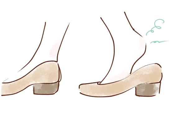 足首を使わない歩き方