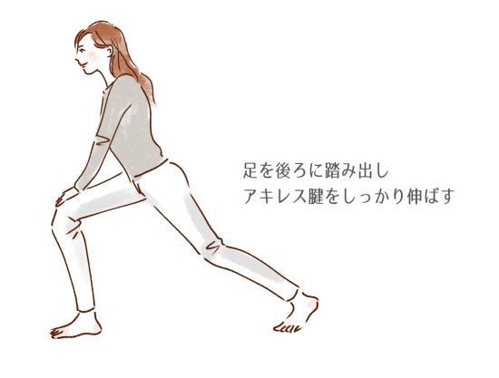 アキレス腱を伸ばす足首ストレッチ
