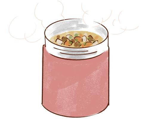 温かい食べ物、飲み物を摂ろう