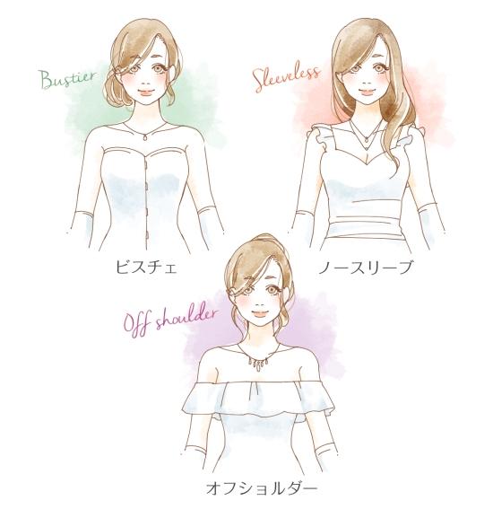 ウエディングドレスの袖の形0926-1