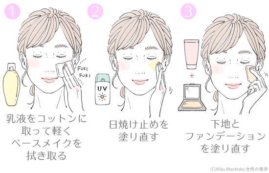 乳液をクレンジング代わりにする方法