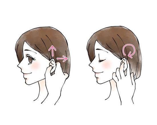 耳のマッサージ0729-6