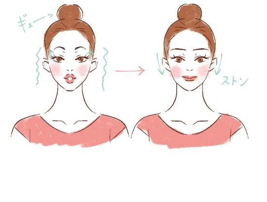 顔の脱力ストレッチ0411-3