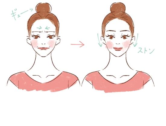 顔の脱力ストレッチ0411-7
