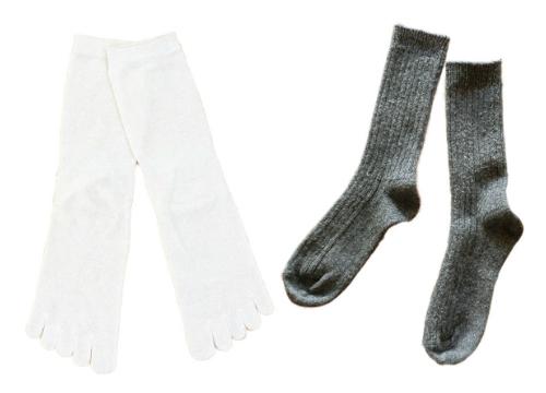 シルク 5本指靴下1021-5