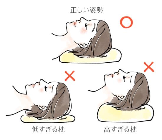 正しい枕の位置1214-5