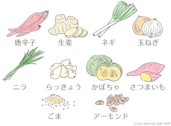 体を内側から温める!冷え改善にも効果的な食べ物