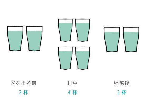 綺麗な水をたっぷりと飲む