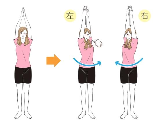 左右にひねる肩甲骨の運動411-3
