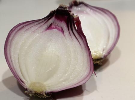 紫玉ねぎの断面