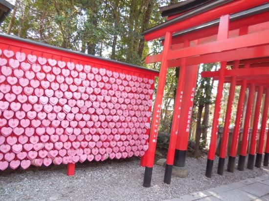 三光稲荷神社のハートの絵馬 0501-4