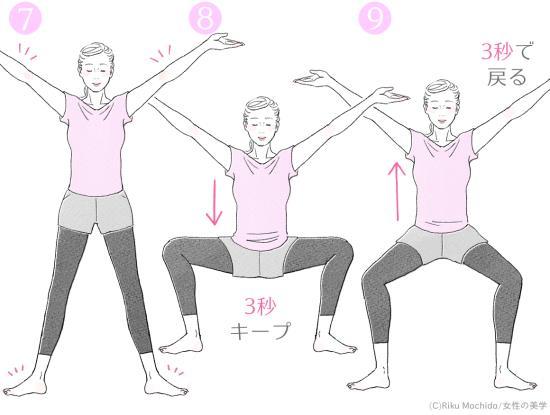 相撲スクワットのやり方3