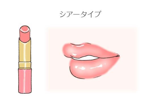 シアータイプの口紅