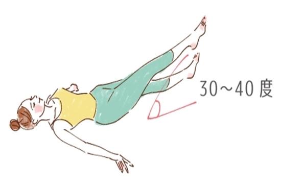 仰向けで脚を縦に開く足パカダイエット 0626-2