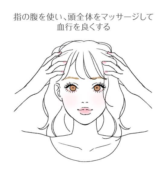 頭皮の血行を良くするマッサージ