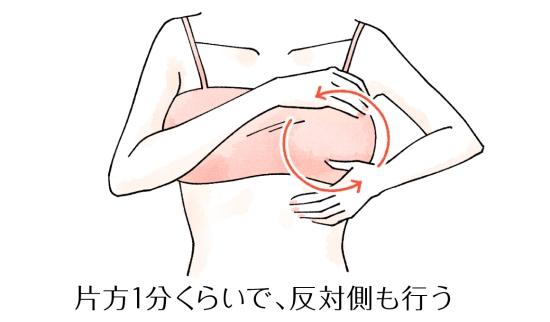 おっぱいマッサージで子宮を柔らかく07262