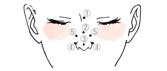 鼻の周りのホクロの位置と意味07264