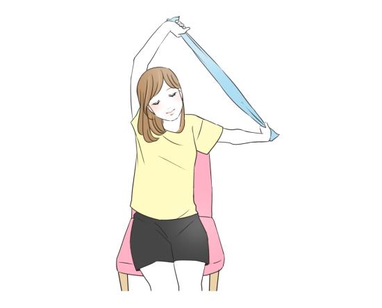 肩甲骨の周りが凝っている人におすすめのエクササイズ07184