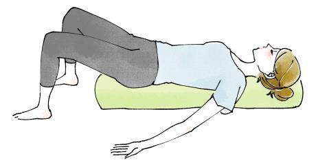 ストレッチポールで体幹を鍛えるやり方のイラスト