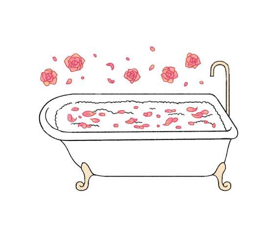 花びらを散らして高級ホテル感を演出