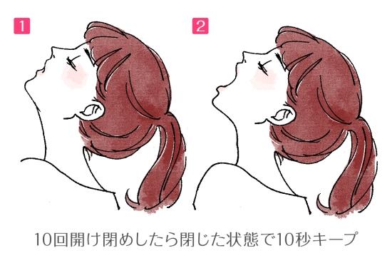 顎の下の脂肪を取るエクササイズ 14516