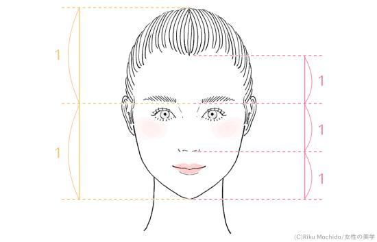 顔の縦幅の黄金比