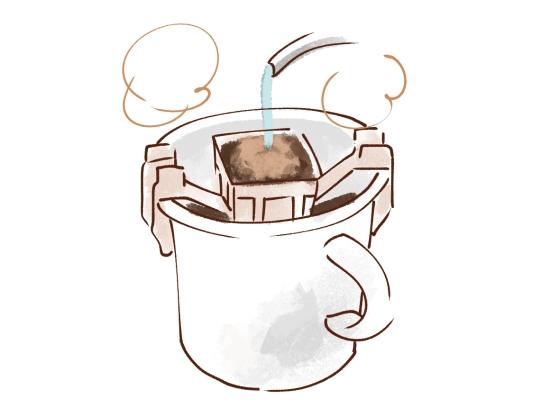 コーヒーを水と馴染ませる 11062
