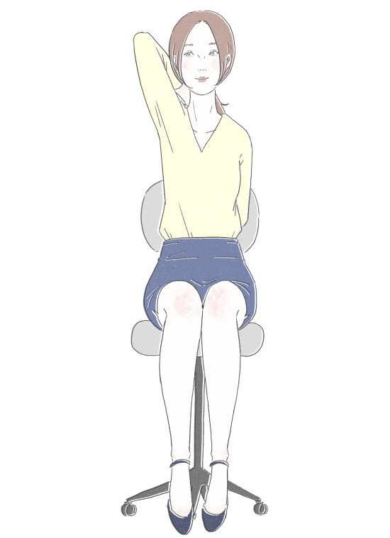 体側から腕を伸ばすポーズ 01044
