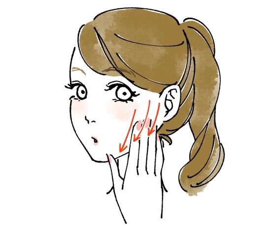 頬骨から下にまっすぐおろす01301