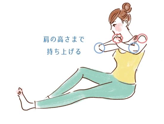 お尻歩き+腕上げ68514