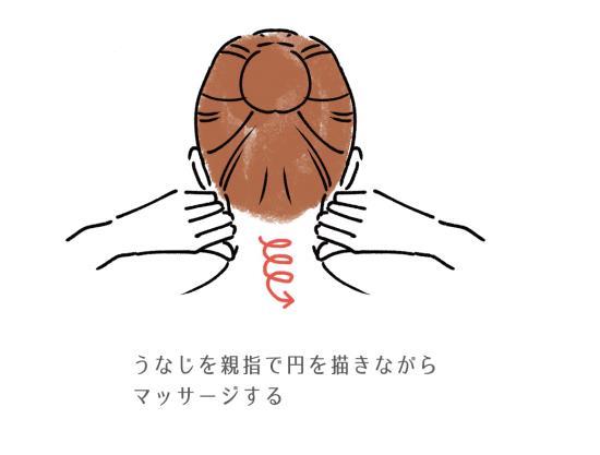 首のマッサージ