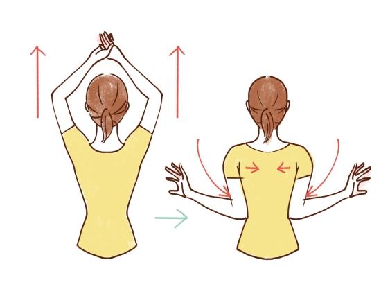 胸から肩甲骨にかけてのストレッチ21310